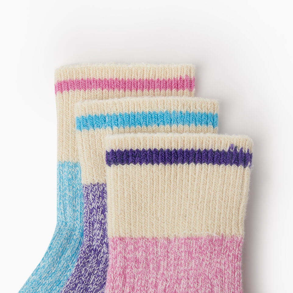 Roots-Kids New Arrivals-Kids Cotton Cabin Ankle Sock 3 Pack-Purple-C