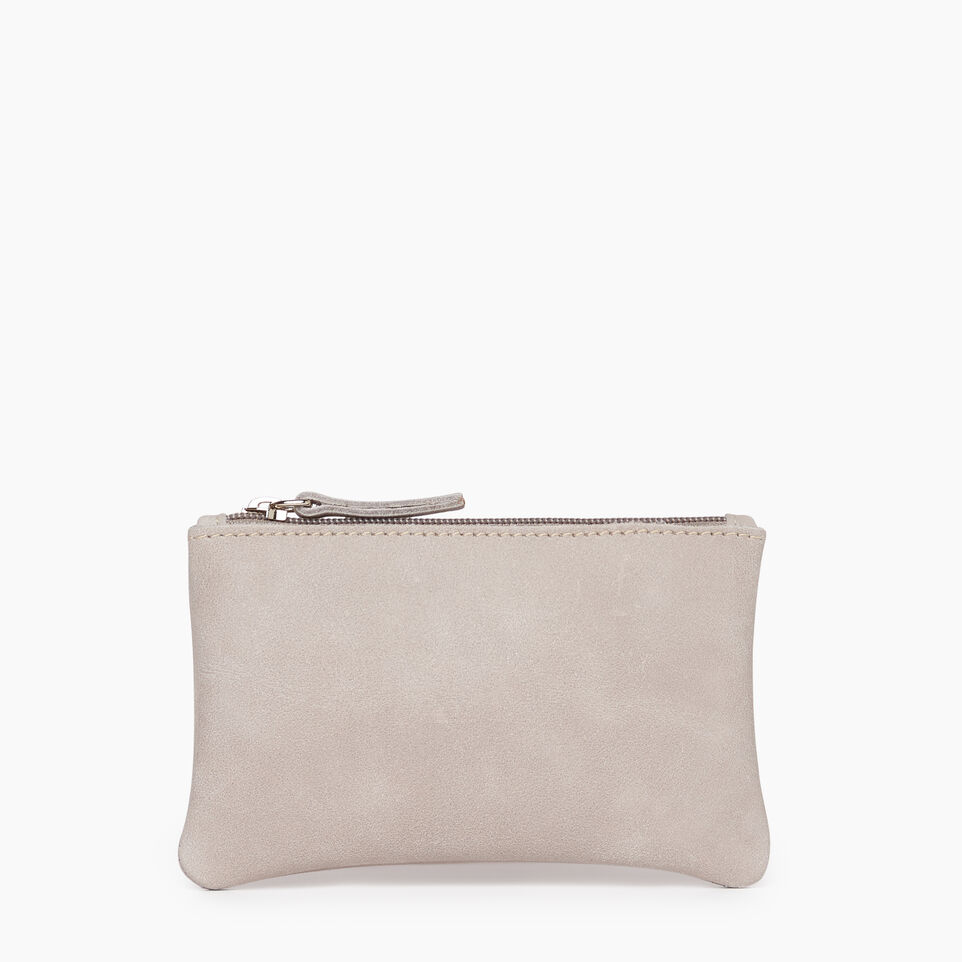 Roots-Leather Leather Accessories-Medium Zip Pouch-Sterling Grey-A