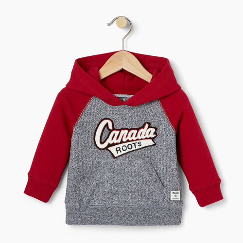 Roots-Kids Baby-Baby Canada Hoody-Salt & Pepper-A