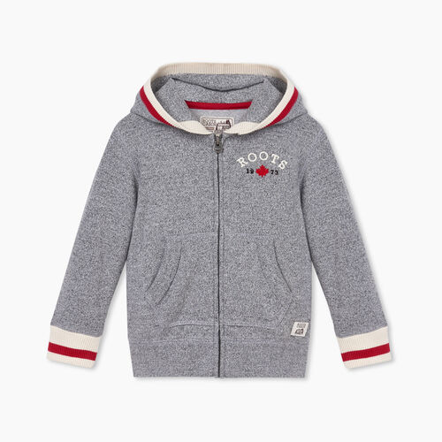 Roots-Sweats Toddler Girls-Toddler Cabin Cozy Full Zip Hoody-Salt & Pepper-A