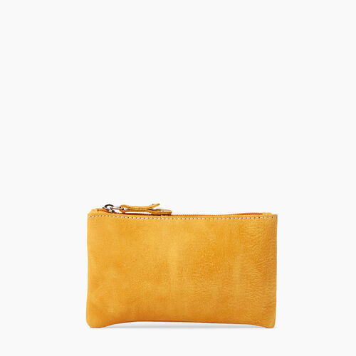 Roots-Leather Leather Accessories-Medium Zip Pouch Tribe-Sunset Yellow-A