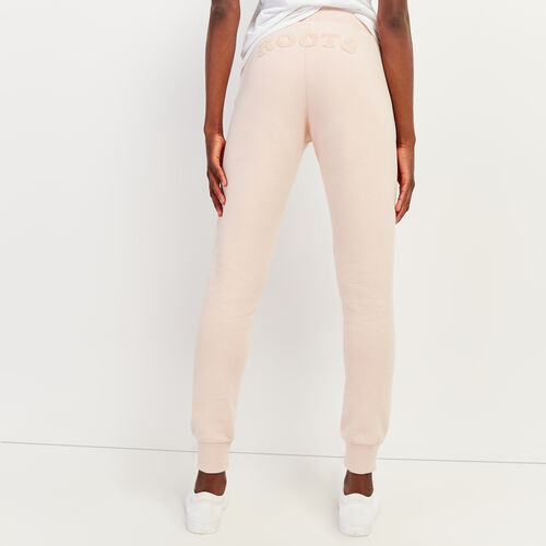 Roots-Women Slim Sweatpants-Ava Slim Cuff Sweatpant-Rose Smoke-A