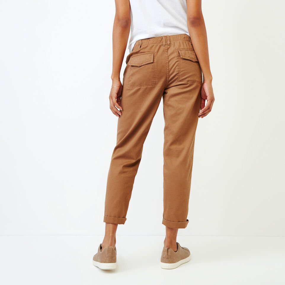 Roots-Women Bottoms-Bedford Slim Chino-Toasted Coconut-D