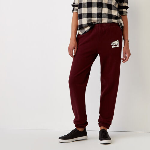 Roots-Women Sweatpants-Cooper Beaver Original Sweatpant-Northern Red-A