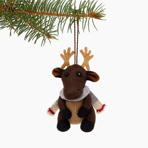 Roots-New For November General Store-Woodland Moose Ornament-Grizzly Brown-A