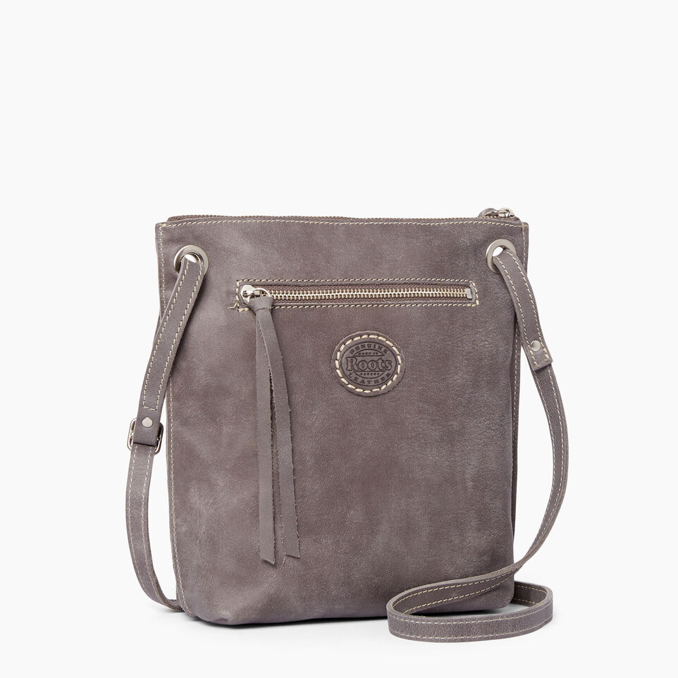 Roots-Leather  Handcrafted By Us Handbags-Festival Bag Tribe-Charcoal-C