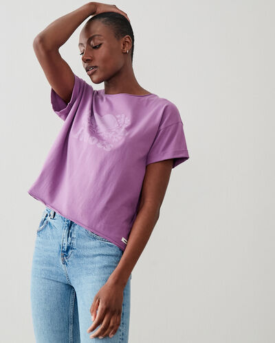 Roots-New For This Month Roots Organics-Womens Organic Cooper T-shirt-True Violet-A