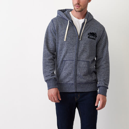 Roots-New For July Men-Original Full Zip Hoody-Navy Blazer Pepper-A