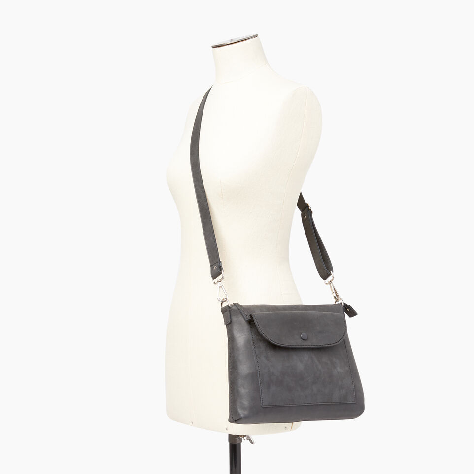 Roots-Leather  Handcrafted By Us Our Favourite New Arrivals-Richmond Crossbody-Jet Black-B