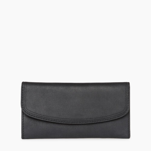Roots-Women Wallets-Canmore Wallet Tribe-Jet Black-A