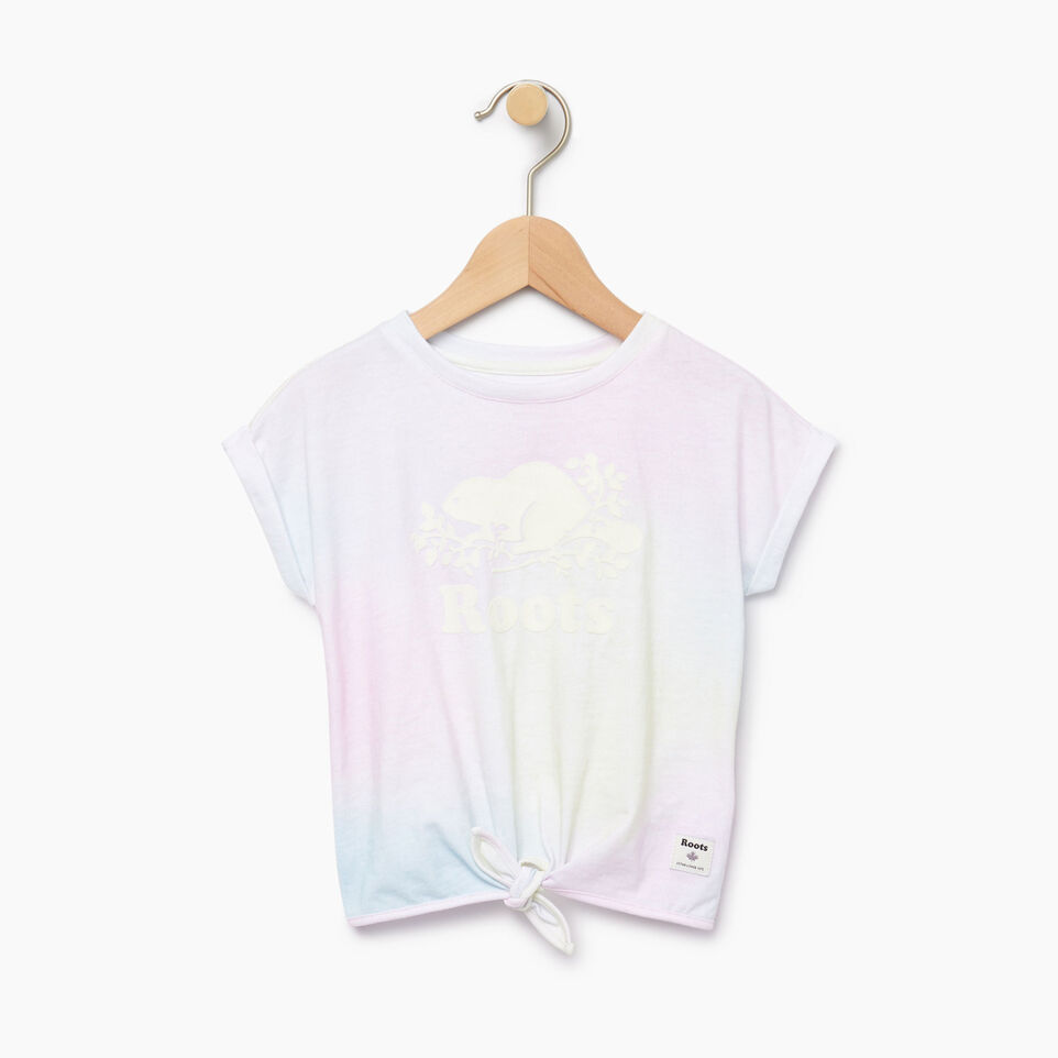 Roots-Kids Our Favourite New Arrivals-Toddler Watercolour Tie T-shirt-Ivory-A