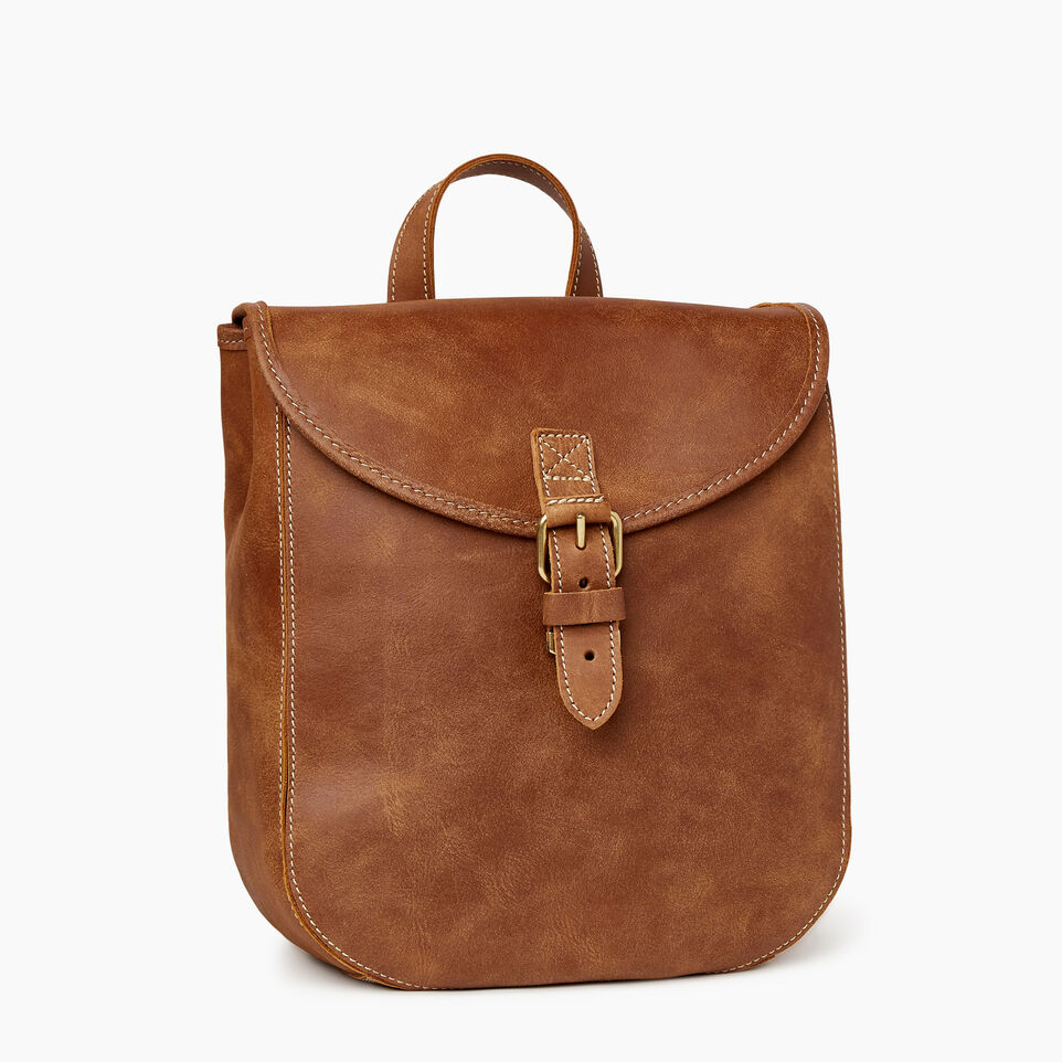 Roots-Leather New Arrivals-Little Nells Backpack-Natural-A