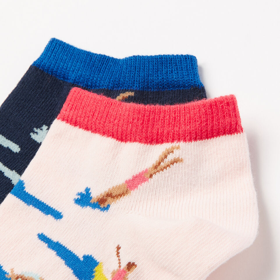Roots-undefined-Womens Lake Life Ped Sock 2 Pack-undefined-B