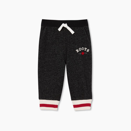 Roots-Kids Bottoms-Baby Cabin Sweatpant-Black Pepper-A