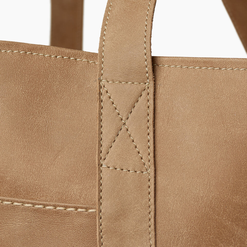 Roots-Leather  Handcrafted By Us Handbags-Muskoka Tote-Sand-E