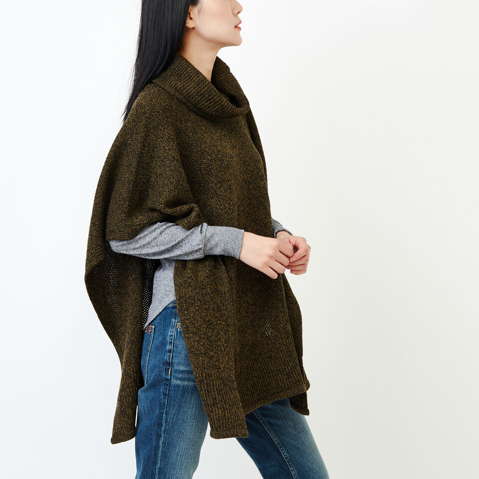 Roots-Women Categories-Nahanni Poncho-Loden Pepper-C