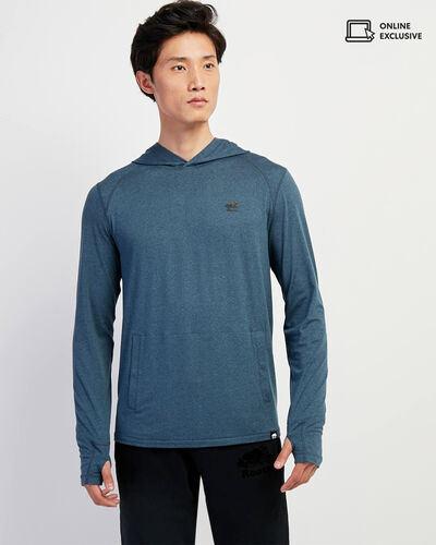 Roots-Sale Tops-Journey Hooded Long Sleeve Top-Copen Blue Mix-A