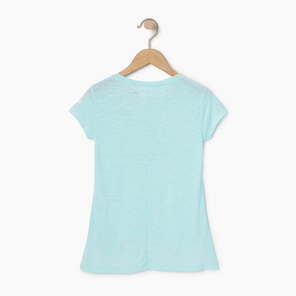 Roots-New For May Kids-Girls Lola Active Swing T-shirt-Aruba Blue-B