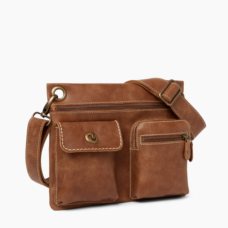 Roots-Leather Roots Original Flat Bags-Village Bag-Natural-A