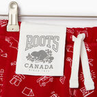 Roots-undefined-Short à motif Canada Roots pour filles-undefined-C