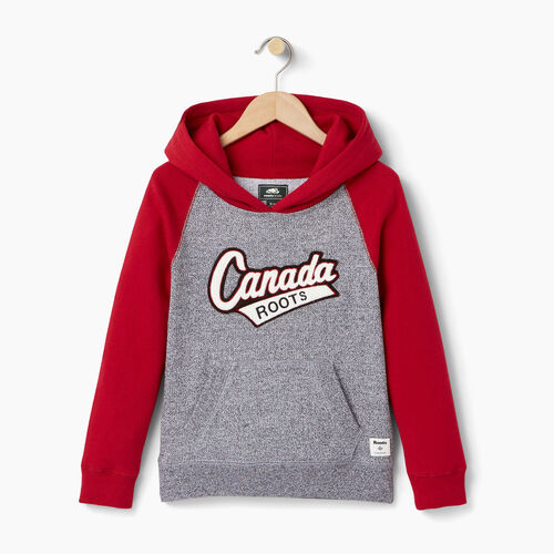 Roots-Kids Our Favourite New Arrivals-Girls Canada Hoody-Salt & Pepper-A