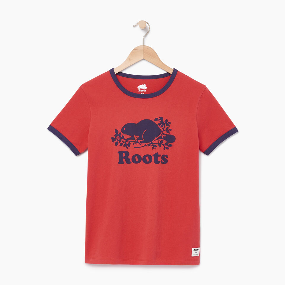 Roots-Women Our Favourite New Arrivals-Womens Cooper Beaver Ringer T-shirt-Baked Apple-A
