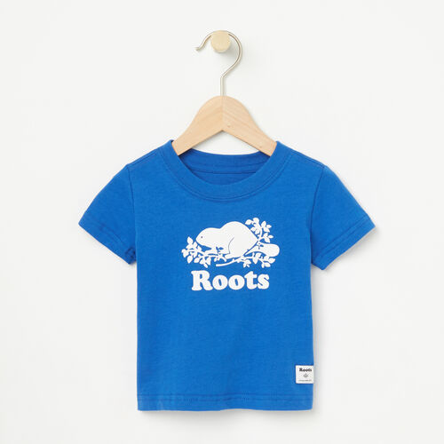 Roots-Kids Baby Boy-Baby Cooper Short Sleeve T-shirt-Olympus Blue-A