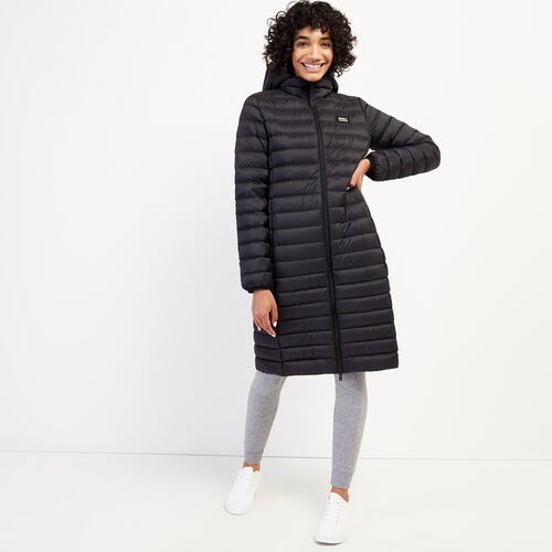Roots-Women Outerwear-Roots Long Packable Jacket-Black-A