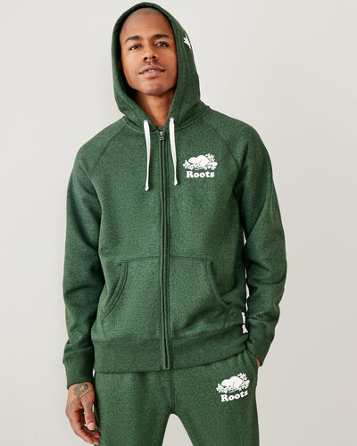 Roots-Men Sweatshirts & Hoodies-Original Full Zip Hoody-Camp Green Pepper-A