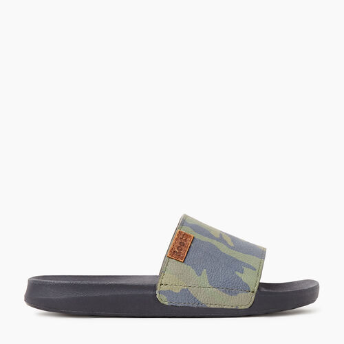 Roots-Sale Footwear-Womens Long Point Camo Slide-Fatigue-A