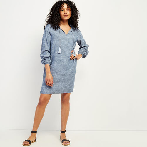 Roots-Women Dresses & Jumpsuits-Rimby Peasant Dress-Federal Blue-A