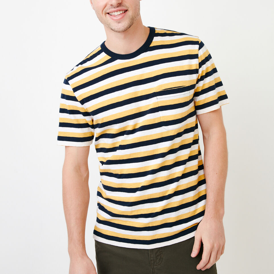Roots-undefined-Striped Pocket T-shirt-undefined-A