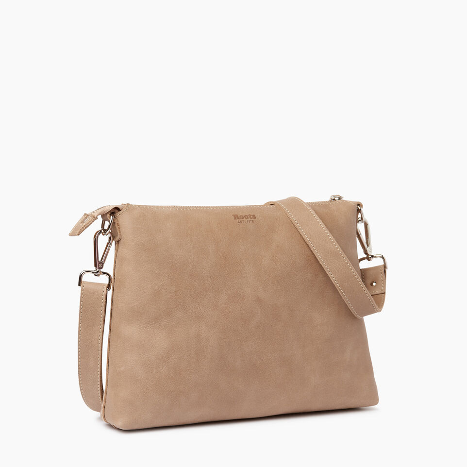 Roots-Leather  Handcrafted By Us Our Favourite New Arrivals-Richmond Crossbody-Sand-C