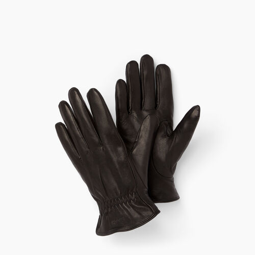 Roots-Leather  Handcrafted By Us Leather Accessories-Womens Classic Nappa Glove-Black-A