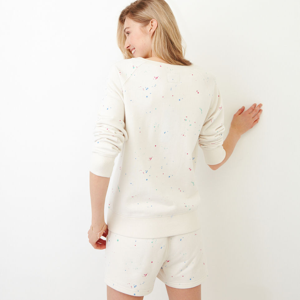 Roots-undefined-Off-shoulder Splatter Sweatshirt-undefined-D