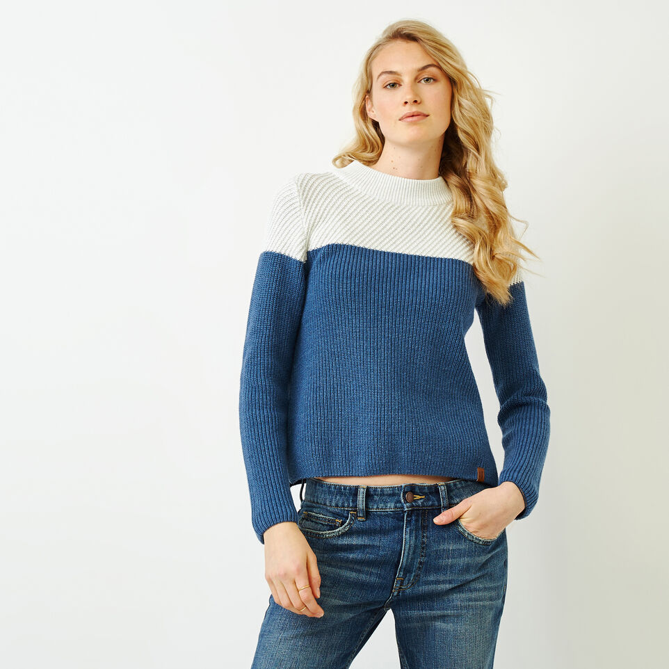 Roots-Women Sweaters & Cardigans-Arbutus Twill Sweater-Bering Sea-A