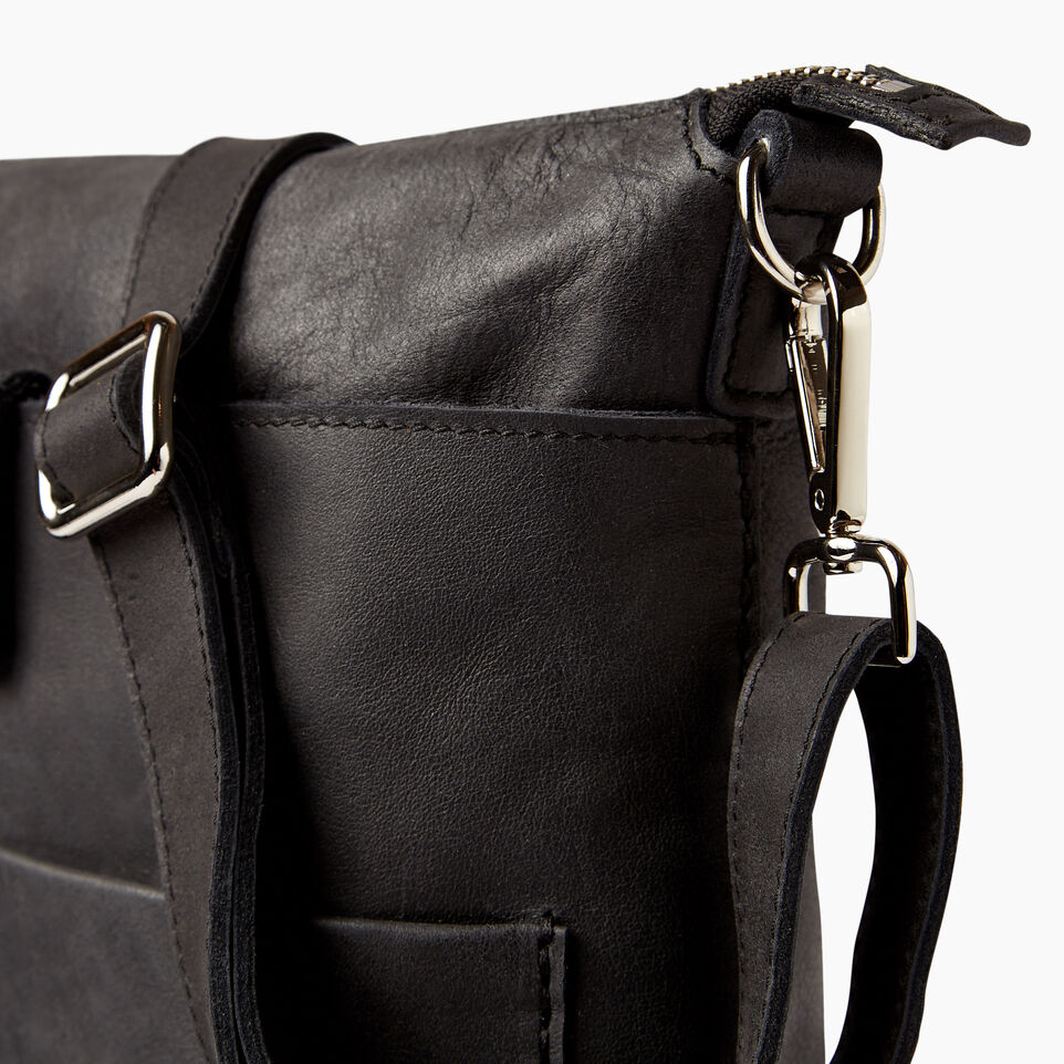 Roots-Leather  Handcrafted By Us Handbags-Canadian Villager-Jet Black-E
