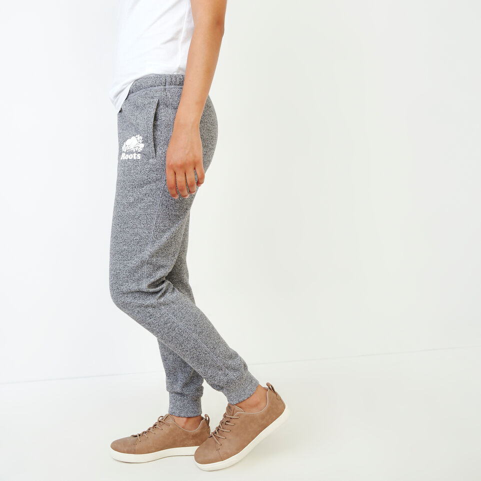 Roots-Sweats Sweatpants-Original Slim Cuff Sweatpant-Salt & Pepper-C