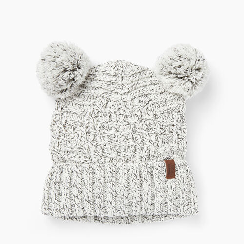 Roots-Clearance Women-Polar Fox Pup Toque-White Mix-A