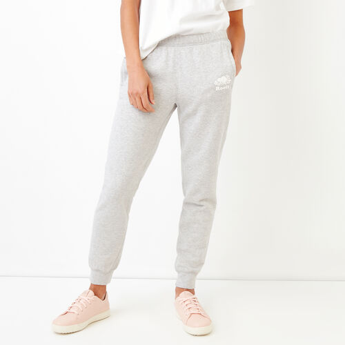 Roots-Women Slim Sweatpants-United Sweatpant-Snowy Ice Mix-A