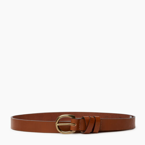 Roots-Women Categories-Roots Womens Cross Loop Belt-Tan-A