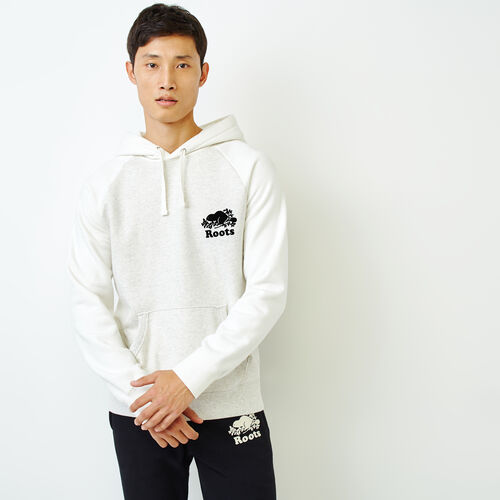 Roots-Men Bestsellers-Sussex Kanga Hoody-Ivory Pepper-A