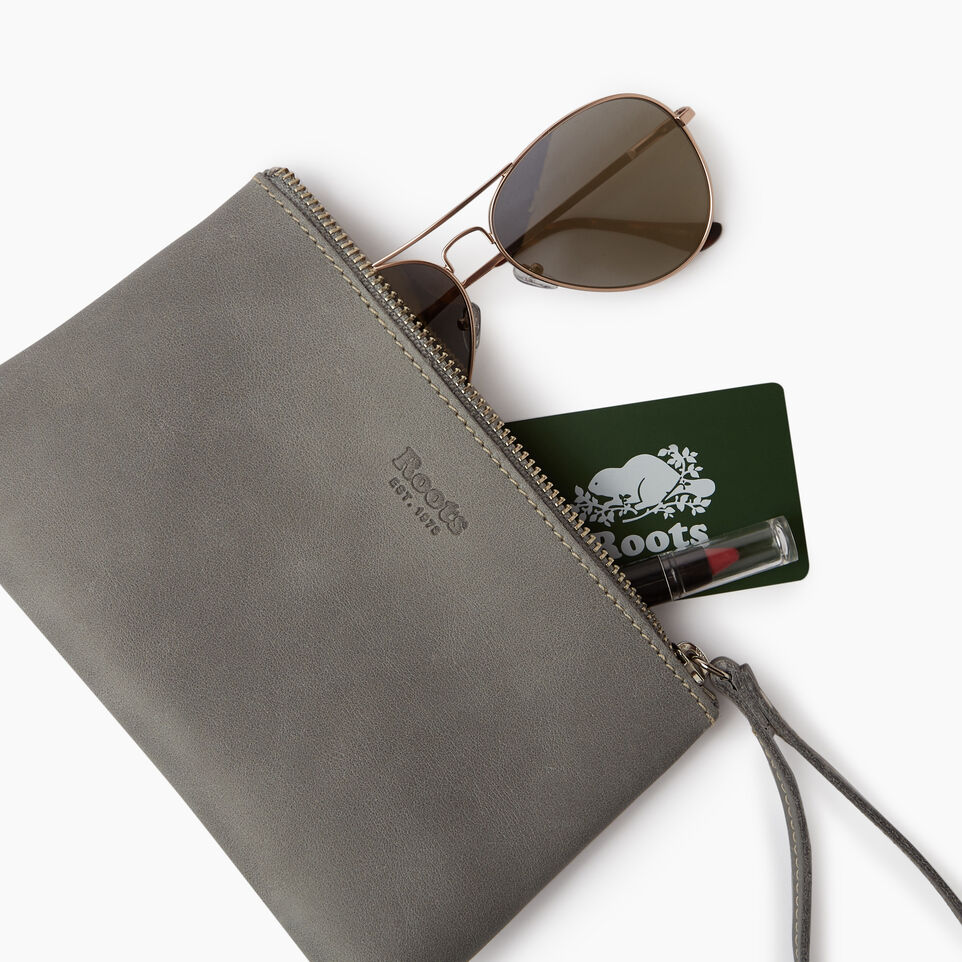 Roots-Leather  Handcrafted By Us Categories-Wristlet Pouch-undefined-B