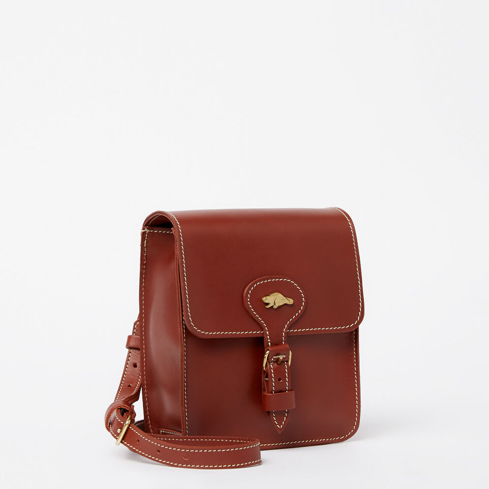 Roots-Leather Handbags-Money Bag Heritage-Oak-A
