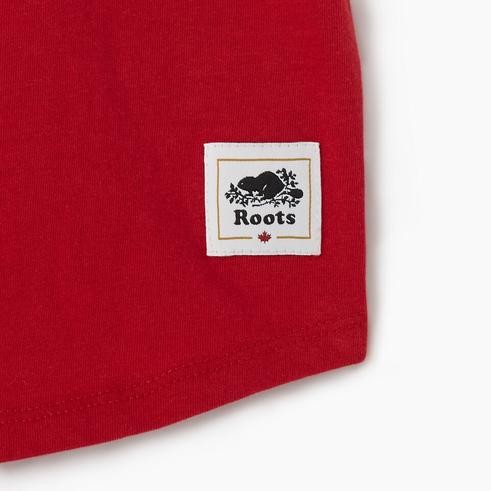 Roots-Kids Canada Collection-Toddler Blazon T-shirt-Sage Red-D