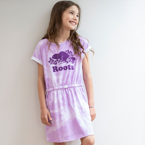 Roots-Kids New Arrivals-Girls T-shirt Dress-African Violet-A