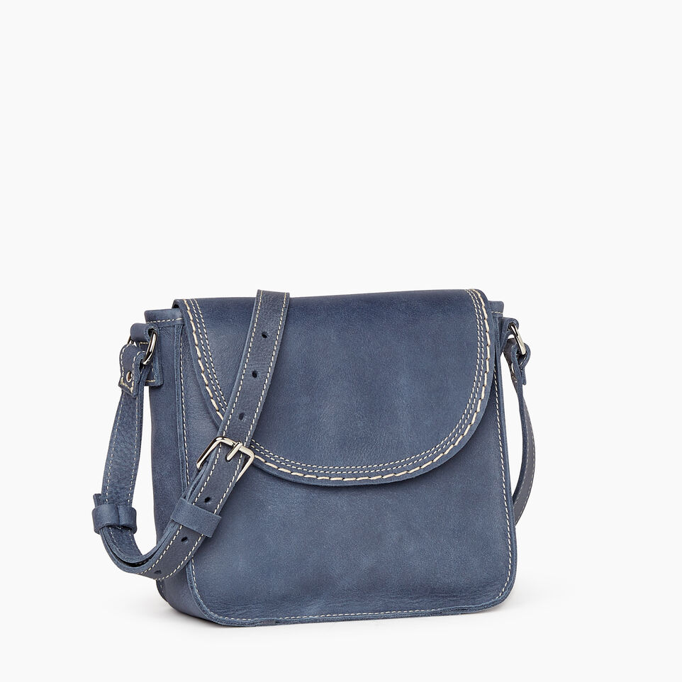 Roots-Leather New Arrivals-Canmore Crossbody Tribe-Navy-A