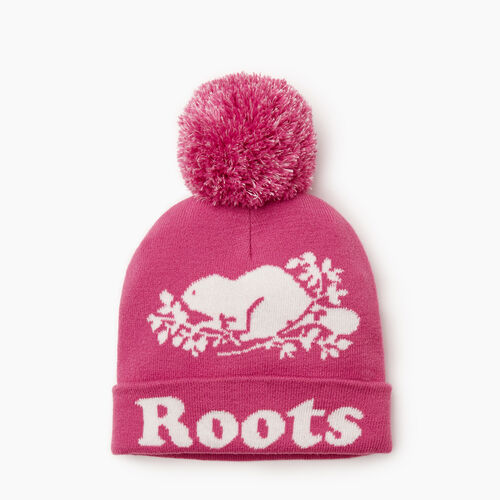 Roots-Clearance Kids-Kids Cooper Glow Toque-Phlox Pink-A