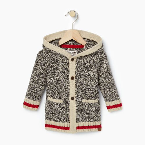 Roots-Kids Baby-Baby Cabin Cardigan-Grey Oat Mix-A