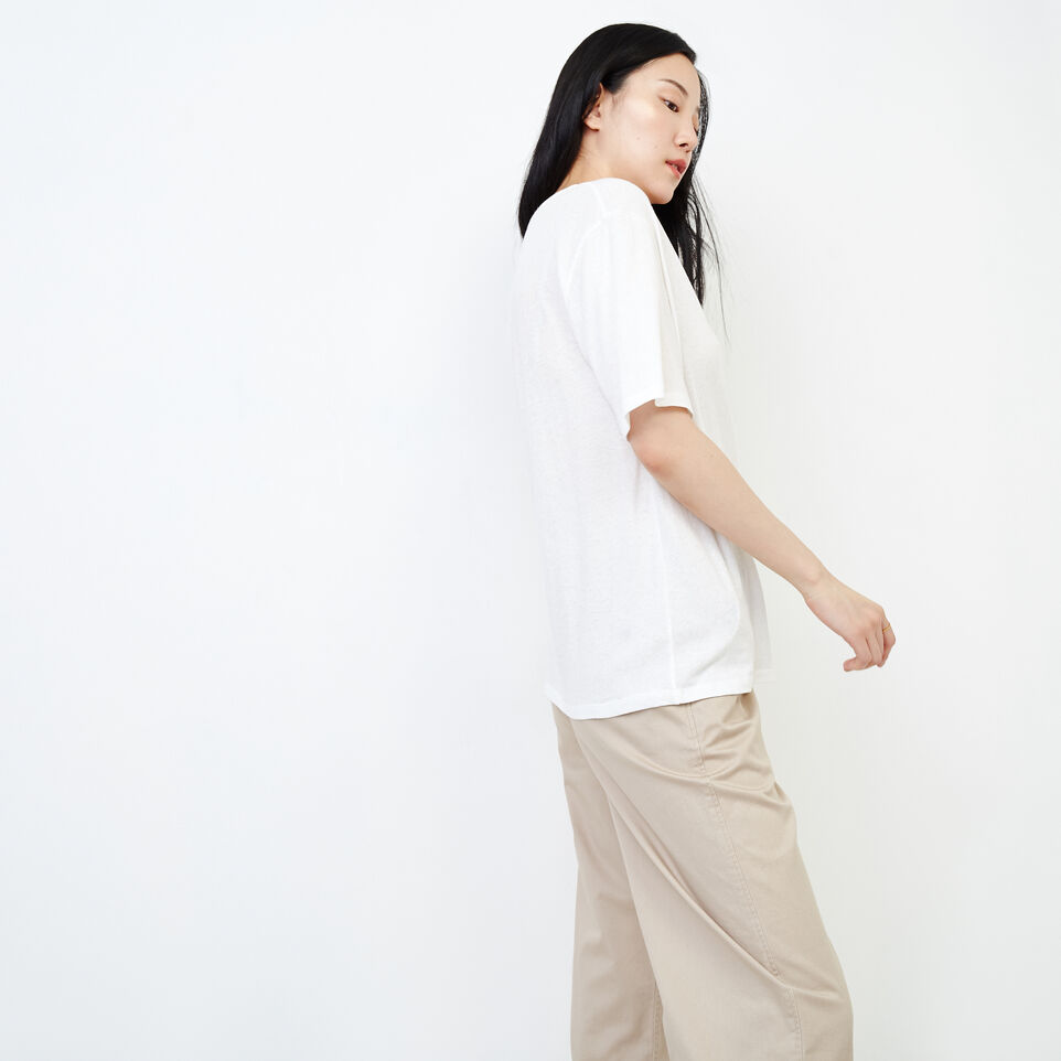 Roots-New For August Women-Penny Top-Ivory-C